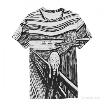Personalized Clothing in Art Painting - Personalized T shirts male in The Scream USD13 3