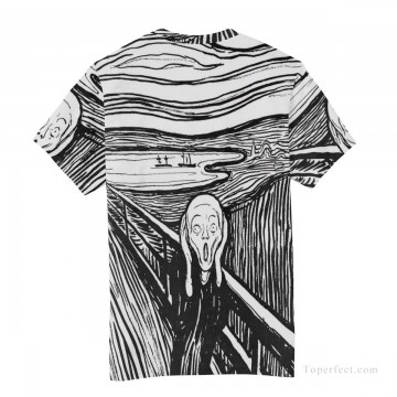 Personalized Clothing in Art Painting - Personalized T shirts male in The Scream USD13 4