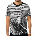 Personalized T shirts male in The Scream USD13 A1