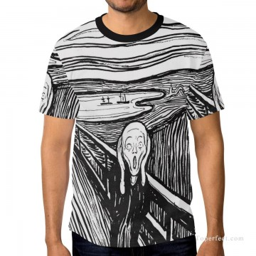 Personalized T shirts male in The Scream USD13 A1 Oil Paintings