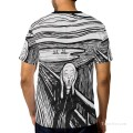 Personalized T shirts male in The Scream USD13 A2