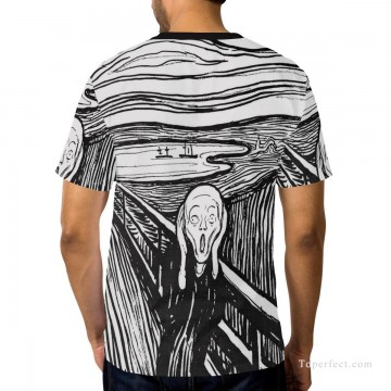 Personalized Clothing in Art Painting - Personalized T shirts male in The Scream USD13 A2