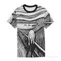 Personalized T shirts male in The Scream USD13 A3