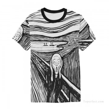 Personalized T shirts male in The Scream USD13 A3 Oil Paintings