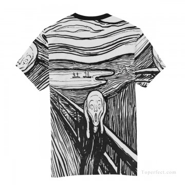 Personalized Clothing in Art Painting - Personalized T shirts male in The Scream USD13 A4
