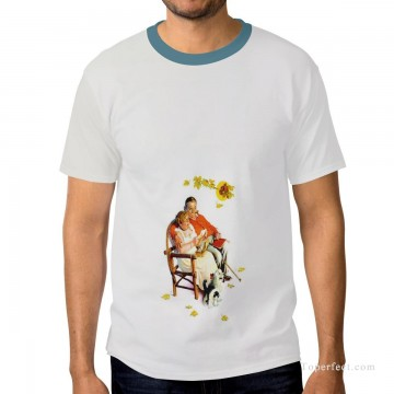 Personalized Clothing in Art Painting - Personalized T shirts male in fat couple USD13 1