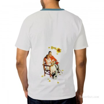 Customized T shirts in Art Painting - Personalized T shirts male in fat couple USD13 2