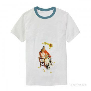 Customized T shirts in Art Painting - Personalized T shirts male in fat couple USD13 3