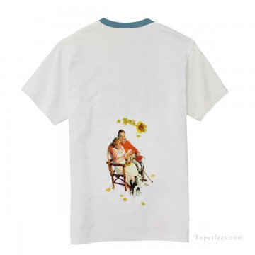 Customized T shirts in Art Painting - Personalized T shirts male in fat couple USD13 4