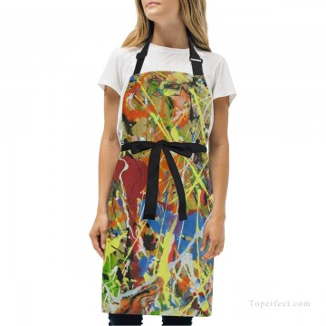 Personalized Kitchen Apron Adjustable Bib with 2 Pockets Adult Gown or Chef Overalls Cooking American Abstract Expressionis USD13 1 Oil Paintings
