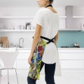 Personalized Kitchen Apron Adjustable Bib with 2 Pockets Adult Gown or Chef Overalls Cooking American Abstract Expressionis USD13 2