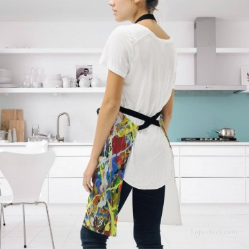 Personalized Kitchen Apron Adjustable Bib with 2 Pockets Adult Gown or Chef Overalls Cooking American Abstract Expressionis USD13 2 Oil Paintings