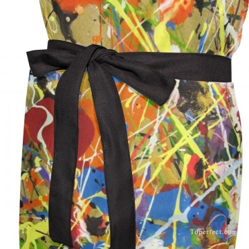 Personalized Kitchen Apron Adjustable Bib with 2 Pockets Adult Gown or Chef Overalls Cooking American Abstract Expressionis USD13 3 Oil Paintings