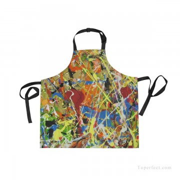 Personalized Kitchen Apron Adjustable Bib with 2 Pockets Adult Gown or Chef Overalls Cooking American Abstract Expressionis USD13 4 Oil Paintings