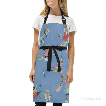 Personalized Kitchen Apron Adjustable Bib with 2 Pockets Adult Gown or Chef Overalls for Cooking Expressionism Sky Blue by Kand USD13 1 Oil Paintings