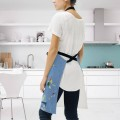 Personalized Kitchen Apron Adjustable Bib with 2 Pockets Adult Gown or Chef Overalls for Cooking Expressionism Sky Blue by Kand USD13 2