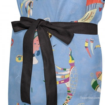 Personalized Kitchen Apron Adjustable Bib with 2 Pockets Adult Gown or Chef Overalls for Cooking Expressionism Sky Blue by Kand USD13 3 Oil Paintings