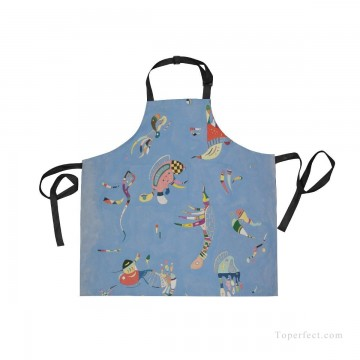 Personalized Kitchen Apron Adjustable Bib with 2 Pockets Adult Gown or Chef Overalls for Cooking Expressionism Sky Blue by Kand USD13 4 Oil Paintings