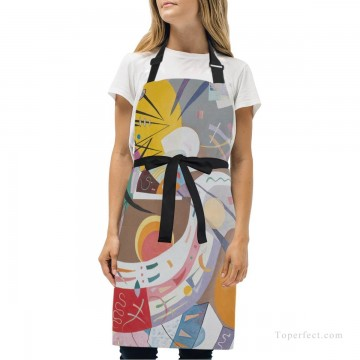 Personalized Kitchen Apron Adjustable Bib with 2 Pockets Adult Gown or Chef Overalls for Cooking abstract painting by Kandinsky USD13 1 Oil Paintings