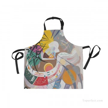 Personalized Kitchen Apron Adjustable Bib with 2 Pockets Adult Gown or Chef Overalls for Cooking abstract painting by Kandinsky USD13 4 Oil Paintings