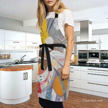 Personalized Kitchen Apron Adjustable Bib with 2 Pockets Adult Gown or Chef Overalls for Cooking abstract painting by Kandinsky USD13 5 Oil Paintings