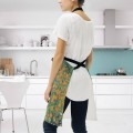 Personalized Kitchen Apron Adjustable Bib with 2 Pockets Adult Gown or Chef Overalls for Women Men Cooking Flower Garden by Klimt USD13 2