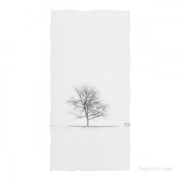 Personalized Beach Towel Large Oversized Blankets for Travel Yoga Mats A Tree Photograph Black and White USD27 1 Oil Paintings