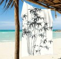 Personalized Beach Towel Large Oversized Blankets for Travel Yoga Mats Chinese ink painting Bamboo by Zhen banqiao USD27 2