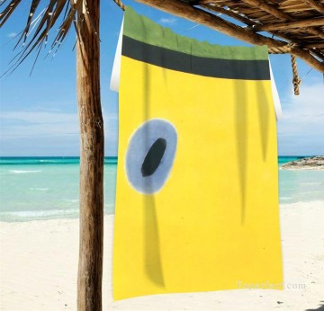 Frame Painting - Personalized Beach Towel Large Oversized Blankets for Travel Yoga Mats Dadaism The Lark Wing USD27 2