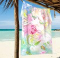 Personalized Beach Towel Large Oversized Blankets for Travel Yoga Mats Flowers Impasto USD27 2