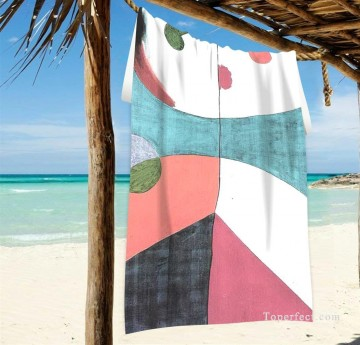 spanish spain Painting - Personalized Beach Towel Large Oversized Blankets for Travel Yoga Mats Spanish Dadaism painting Portrait USD27 2