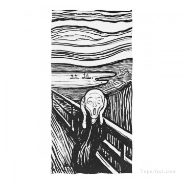 Frame Painting - Personalized Beach Towel Large Oversized Blankets for Travel Yoga Mats The Scream By Edvard Munch USD27 1