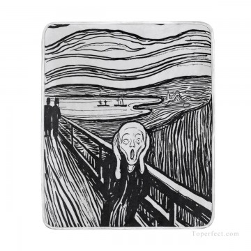Customized Blanket in Art Painting - Personalized Blanket in High grade Velvet for Bed Chair Sofa Couch Travel Outdoor The Scream by Edvard Munch USD24 37 4 1