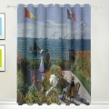 Personalized Curtain for Door Window Draperies Thick Blackout 2 Panels Wall Art Hanging Garden at Sainte Adresse by Monet USD55 7 1