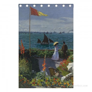 dr pearl Painting - Personalized Curtain for Door Window Draperies Thick Blackout 2 Panels Wall Art Hanging Garden at Sainte Adresse by Monet USD55 7 3