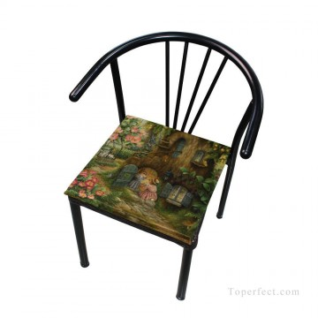 Frame Painting - Personalized Chair Pads Seat Cushion for Home Office Dinning Indoor Outdoor Cartoon for Kids USD13 4 4