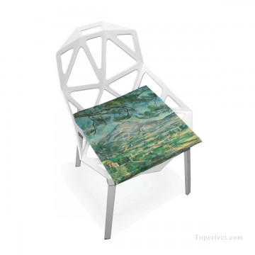 Frame Painting - Personalized Chair Pads Seat Cushion for Home Office Dinning Indoor Outdoor Cezanne Landscape USD13 8 3
