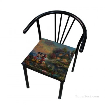 Frame Painting - Personalized Chair Pads Seat Cushion for Home Office Dinning Indoor Outdoor Mickey and Minnie Disney USD13 9 4