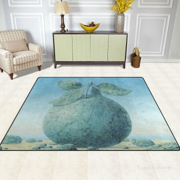 photorealism realism Painting - Personalized Floor Mat Non slip Doormat Anti Slip Office Entrance Pad The Great Apple Belgian Surrealism USD12 USD52 6 2