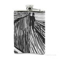 Personalized Stainless Steel Hip Flask Men Carry On Jug Small Wine Bottle Print on Leather The Scream by Edvard Munch USD17 4 3