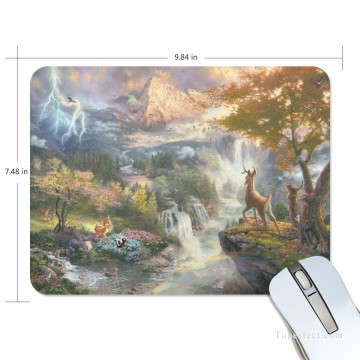 Personalized Mousepad Mouse Mat Non Slip Rubber Base for Laptop Computer PC Bambi First Year USD6 1 Oil Paintings