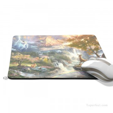 Frame Painting - Personalized Mousepad Mouse Mat Non Slip Rubber Base for Laptop Computer PC Bambi First Year USD6 2