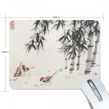 Personalized Mousepad Mouse Mat Non Slip Rubber Base for Laptop Computer PC Chicken Under Bamboo USD6 1 Oil Paintings