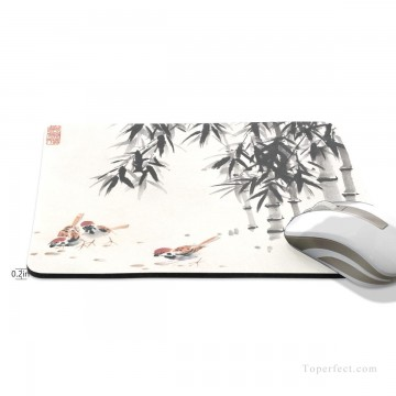 Frame Painting - Personalized Mousepad Mouse Mat Non Slip Rubber Base for Laptop Computer PC Chicken Under Bamboo USD6 2