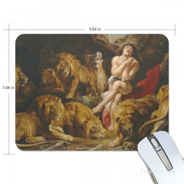 Personalized Mousepad Mouse Mat Non Slip Rubber Base for Laptop Computer PC Daniel in the Lions Den USD6 1 Oil Paintings