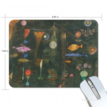 3d magic fantasy Painting - Personalized Mousepad Mouse Mat Non Slip Rubber Base for Laptop Computer PC Fish Magic by Paul Klee USD6 1