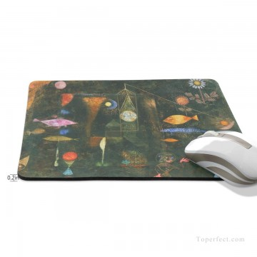 Frame Painting - Personalized Mousepad Mouse Mat Non Slip Rubber Base for Laptop Computer PC Fish Magic by Paul Klee USD6 2