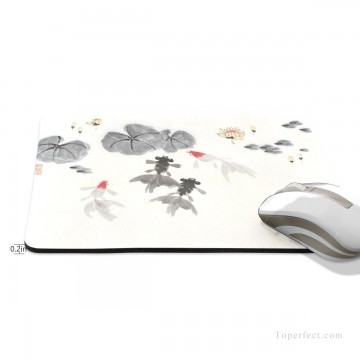 Frame Painting - Personalized Mousepad Mouse Mat Non Slip Rubber Base for Laptop Computer PC Goldfish and Lotus USD6 2