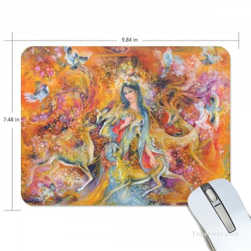 Frame Painting - Personalized Mousepad Mouse Mat Non Slip Rubber Base for Laptop Computer PC Persian Miniatures Fairyland USD6 1