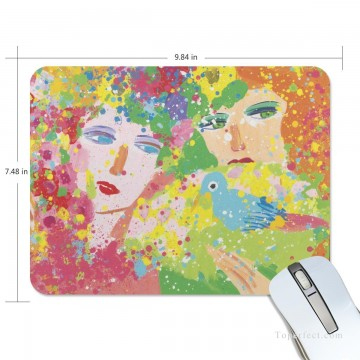 Personalized Mousepad Mouse Mat Non Slip Rubber Base for Laptop Computer PC Suddenly Spring Again USD6 1 Oil Paintings